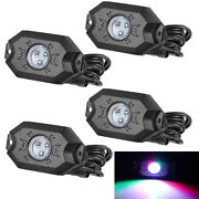 Rgb Led Rock Light Replacement Offroad Bluetooth Music Chasing Truck Utv 4-pods