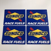 Lot Of 4 Sunoco Race Fuels Racing Decals Stickers Nascar Nhra Hot Rod