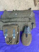 German Camo Ammo Pouch Canvas Bag Canteen And Canvas Ddr