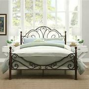 Queen Size Vintage Bed Frame Metal Platform Beds With Headboard And Footboard New