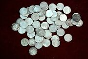 56 Roosevelt Silver Dimes Coin Lot 1946 - 1964 Circulated 90 Silver