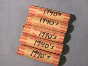 Mixed Rolls Of 1940and039s Small Cents / Philly Denver And San Francisco Possible.