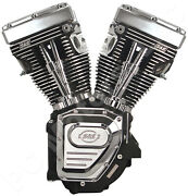 Sands Cycle 124 Wrinkle Black Long Block Twin Cam Hc Engine 1999-2006 310-0282a