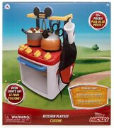 Disney Mickey Mouse Kitchen Play Set Ages 3+ Toy Teapot Oven Pizza Stove Gift