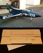 72 Wingspan F9f Panther R/c Plane Partial Kit/short Kit And Plans Pleas Read