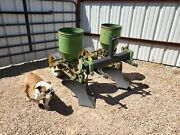 John Deere 2 Row Cat 1 Lister Planter Corn Bean Hemp Milo Game Plot