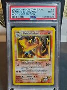 Psa 9 1st Edition 2000 Pokemon Gym Challengers Blaines Charizard Holo