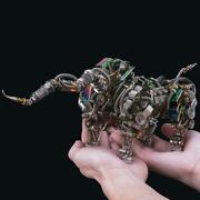 3d Puzzle Assembly Model Kit Mechanical Bull Metal Craft Toy Diy 1087 Piece
