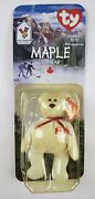 New Maple The Bear-limited Edition Mcdonalds Ty Beanie Baby With Rare Errors