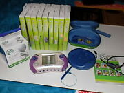 Leapfrog Leapster2 Pink Purple Learning System 11 Games, Case, Usb Pet Pals