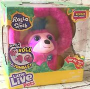 Little Live Pets - Rollo The Sloth Interactive Rolls Tumbles And Repeats Words
