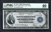 1918 2 Frbn Battleship ♚♚minneapolis♚♚ Pmg Ef40 Great Color Only 85 Known