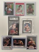 1987 Panini Julio Cesar Chavez 164 Rookie And 1991 Ringlords Sgc 9.5– 8 Card Lot