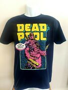 Marvel Deadpool The Merc With The Mouth Comic T-shirt Navy Sz. Large Xforce