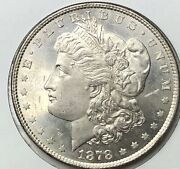 1878 8tf Morgan Silver Dollar Bu Ms++++ Pl Obv Dmpl Rev Vam 14.16 Hot 50 List