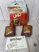 Harry Potter And The Sorcererandrsquos Stone Uno Card Game 2000 Edition Mattel Complete