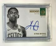 Kyrie Irving 2017-18 Panini Encased Gold Endorsements Autograph Serial /10 Hot