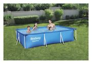 Bestway Steel Pro 9and03910 X 6and0397 X 26 Rectangle Frame Above Ground Swimming Pool