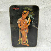 1950s Vintage Half Nude Egyptian Ornamented Lady Dancer Morton Confectionery Tin