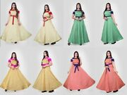 Heavy Jacquard Ready Made Gown Indian Casual Wear Designer For Womenand039s Kzpu10-5
