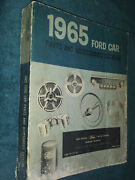 1965 Ford Car Parts And Accessories Catalog / Original Parts Book Mustang Galaxie
