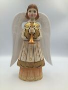 10 Wooden Angel Hand Painted Carved Christmas Easter Decor Collectible Gift