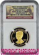 2009 Anna Harrison 10 Ngc Pf 70 First Spouse Gold Coin Graded Perfect
