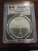 2019-mo Pcgs Ms70 First Strike Silver Mexico
