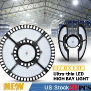 20x 100w Ultra-thin Led High Bay Light Deformable Mining Lamp Warehouses Garages