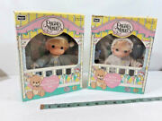 Pair Set Of 1992 Rose Art My First Precious Moments Baby 6 Dolls Boy And Girl