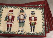 Nutcracker Placemats Lillian Vernon Set 6 Christmas Holiday Tapestry Pre Owned