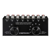 6-in-2-out Rca Stereo Switcher Selector Splitter Audio Switches Switch