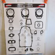 Briggs And Stratton Bands V-twin Engine Gasket Wall Charts Ms0710 New Set Old Stock