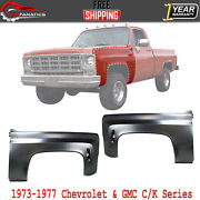 Front Fender Liner Steel Left And Right For 1973-1977 Chevrolet And Gmc C/k Series