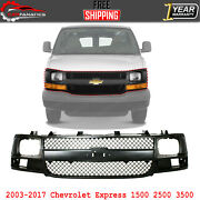 Front Grille Gray Shell And Insert For 2003-2017 Chevrolet Express 1500 2500 3500