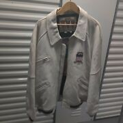 White All American Usa 1975 Avirex Leather Jacket 4xl Nas Dmx Belly