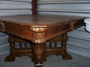 Antique Eastlake Square Oak Dining Room Kitchen Table Simply The Best Ever