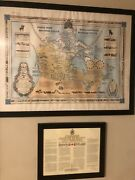 1966 Furse Pictorial Map Of Canada Honoring The Royal Canadian Mounted Police