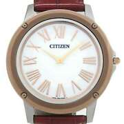 Free Shipping Pre-owned Citizen Eco-drive One Solar Eg9004-00a Limited Model