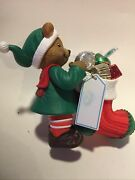 Carlton Christmas Ornament Hershey's Tasty Trimmings Bear With Candies 27