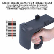 Uhf Wireless Bt Handheld Barcode Scanner Rfid Card Tag Reader Usb Rechargeable
