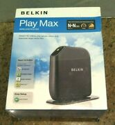 Belkin Play Max Wireless Router Model F7d4301 New Sealed In Plastic