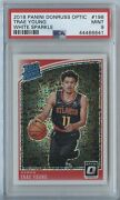2018-19 Optic Trae Young 198 White Sparkle Ssp Psa 9 Mint Rookie Rc Hawks
