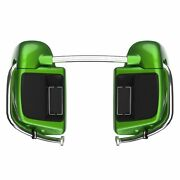 Radioactive Green Lower Vented Fairing 6.5and039and039 Speaker Pod For Harley Touring 14+