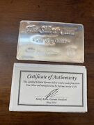 The Silver Card One Troy Oz .999 Fine Silver Pyromet Fits In Your Wallet Thin