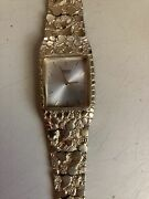 14 K Gold Nugget Watch Seiko Approx 55 Grams