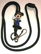 Disney Wdw Cast Member Exclusive Policeman / Security Mickey Mouse Bolo Lanyard