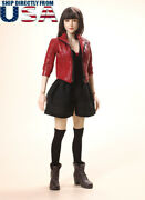 1/6 Scarlet Witch Leather Jacket Clothing Shoes Set For 12 Hot Toys Figure Usa
