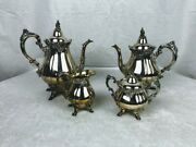 Vintage Andlsquobaroqueandrsquo Silverplate Tea/coffee Set From Wallace