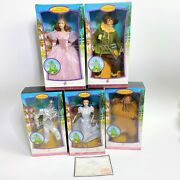 New 2006 Wizard Of Oz Barbie - Pink Label Lot Of 5 Dolls Official Certificate